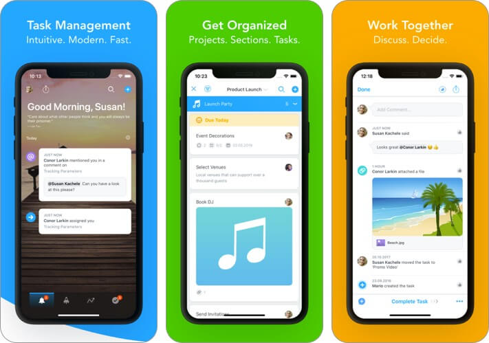 task management: meistertask iphone and ipad team management app screenshot