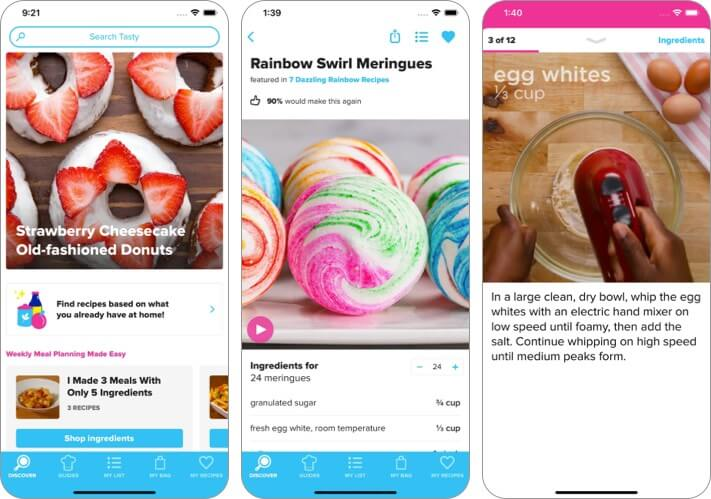 Tasty iphone and ipad recipe app screenshot