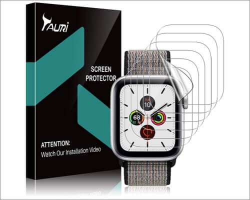 tauri scratch-resistant screen protector for apple watch series 6 and 5