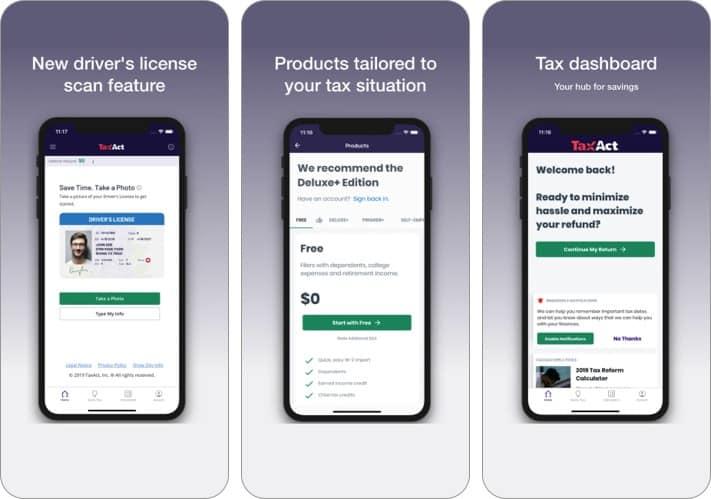 taxact express iphone and ipad app screenshot