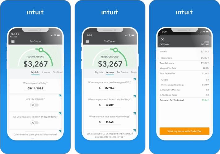 taxcaster iphone and ipad tax app screenshot