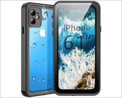 temdan waterproof heavy duty rugged case for iphone 11