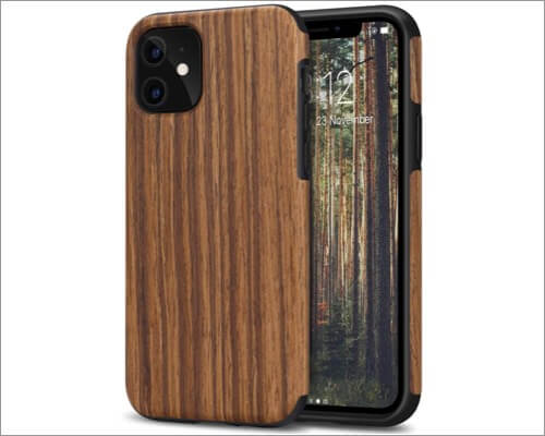 tendlin wood grain case for iphone 11
