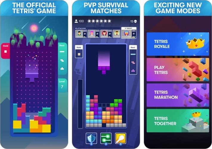 tetris iphone and ipad game screenshot