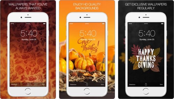 Thanksgiving Wallpapers iPhone and iPad App Screenshot