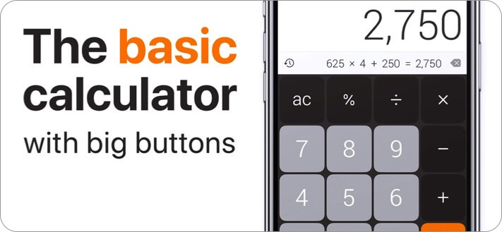 The Calculator iPhone and iPad App Screenshot
