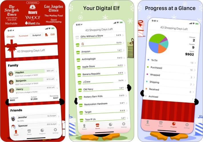 The Christmas List iPhone and iPad App Screenshot