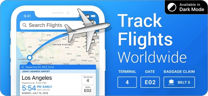 The Flight Tracker iPhone and iPad App Screenshot