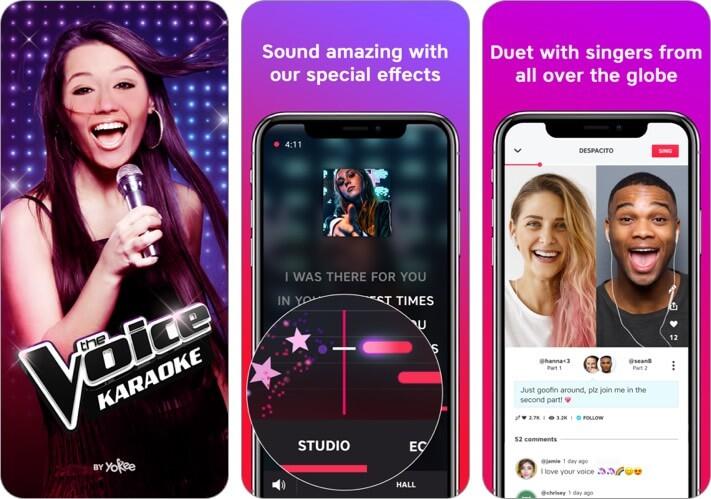the voice karaoke iphone and ipad app screenshot
