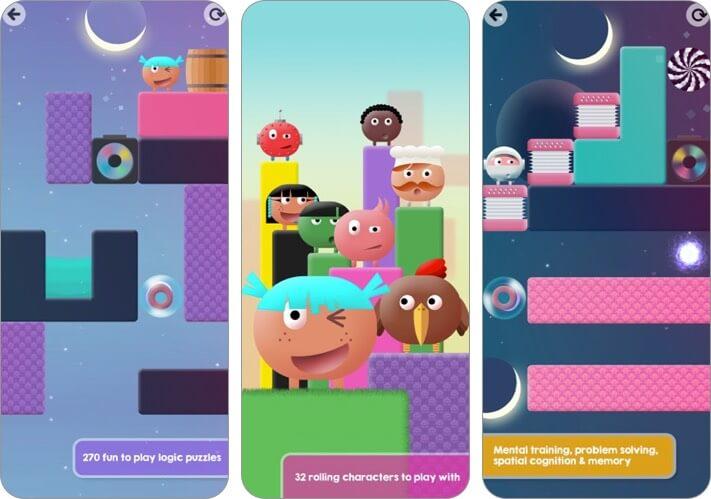 thinkrolls 2 iphone and ipad kids game screenshot