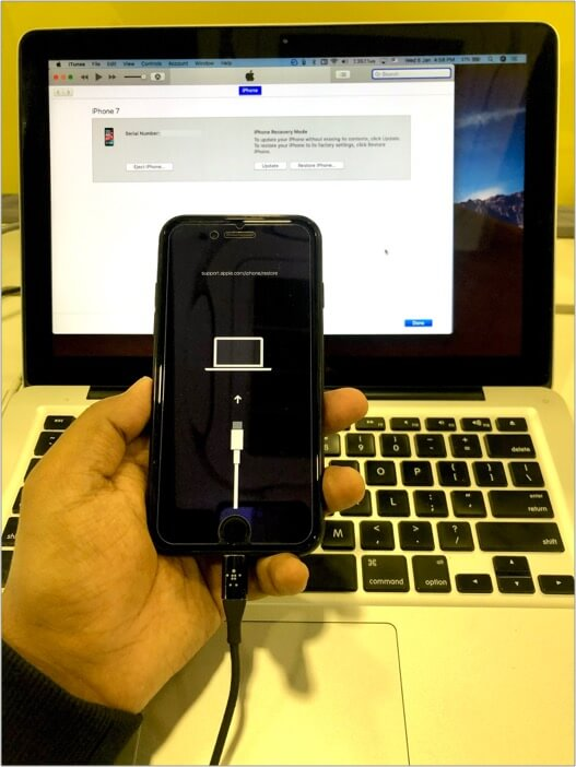 This is how process of fixing disabled iPhone via Computer Looks