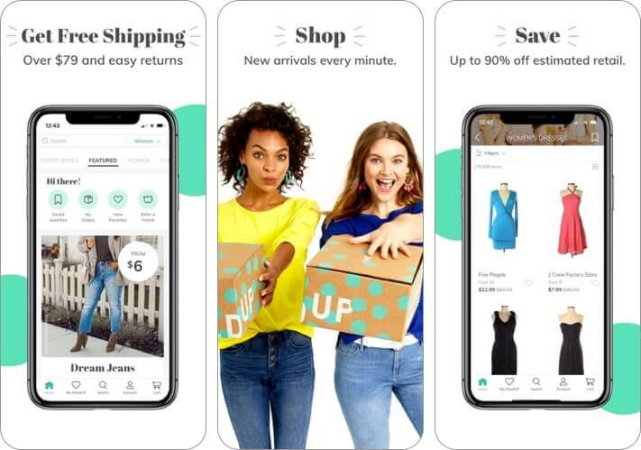 thredup iphone and ipad fashion app screenshot