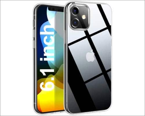 THREEBEES Slim fit Clear Case for iPhone 12 and 12 Pro