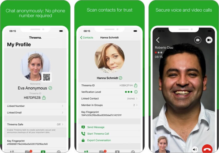 Threema The Secure Messenger iPhone App Screenshot