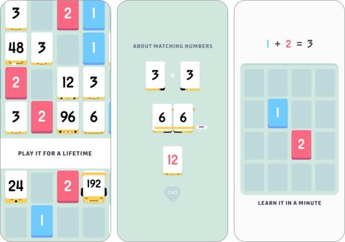 Threes iPhone Game Screenshot