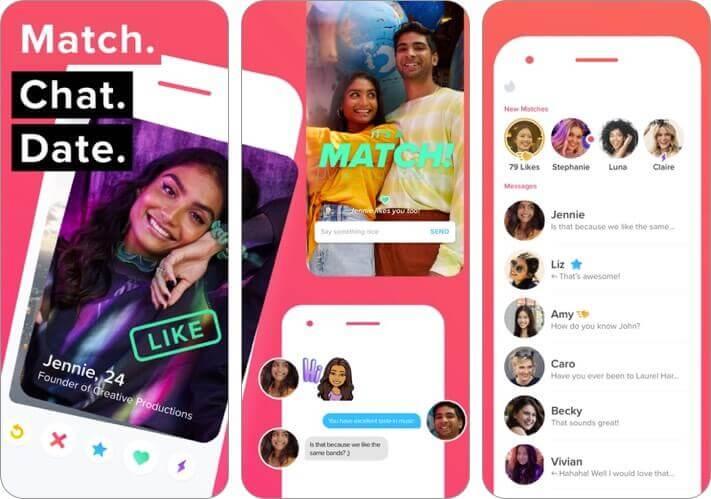 tinder ios dating app screenshot