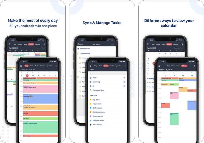 Tiny Calendar iPhone and iPad App Screenshot