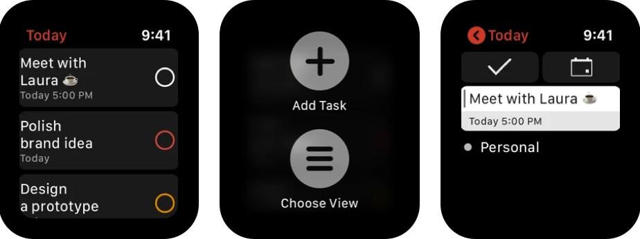 Todoist Apple Watch App Screenshot