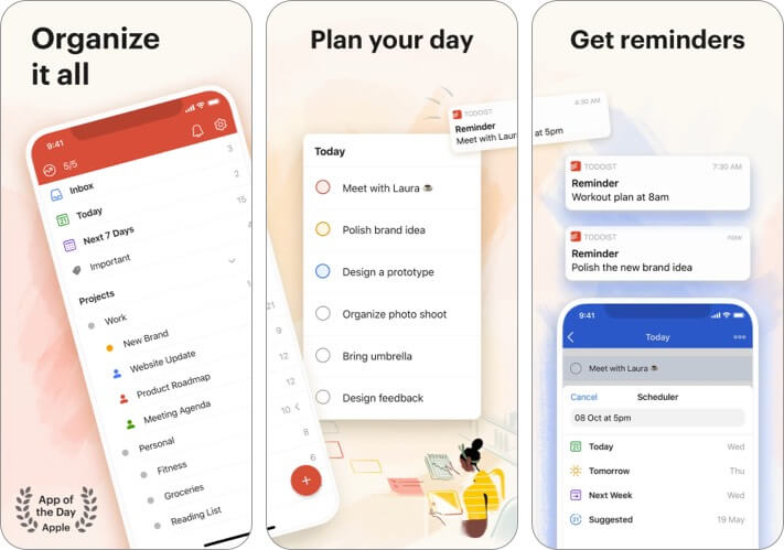 Todoist iPhone and iPad App Screenshot
