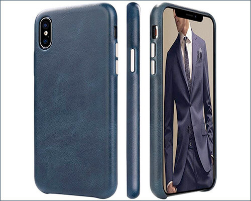 toovren Leather Case for iPhone Xs