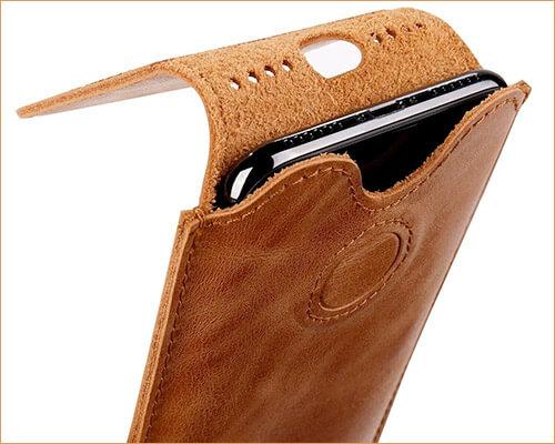 toovren iPhone X Leather Sleeve