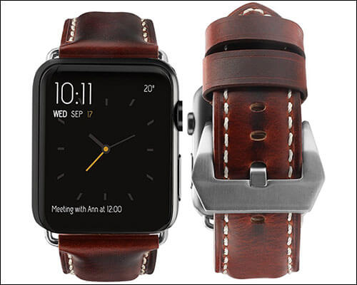top4cus Leather Band for Apple Watch Series 2