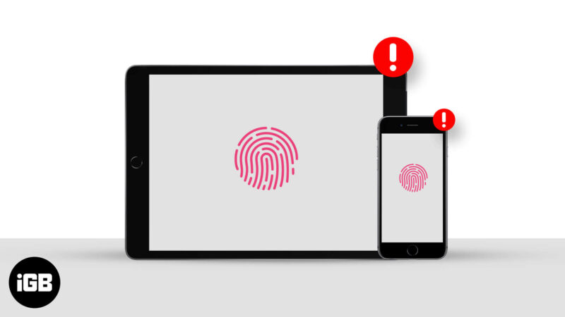 touch id not working on iphone or ipad