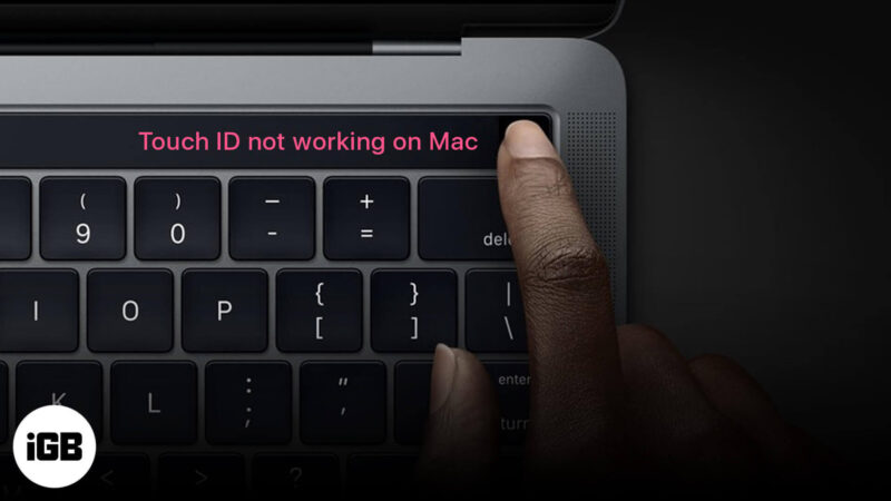 Touch ID Not Working on MacBook Pro