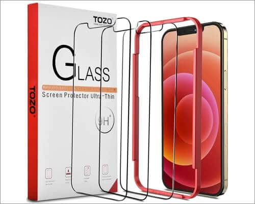 TOZO tempered glass screen protector for iPhone 12 Pro