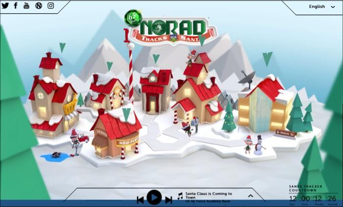 Track Santa Claus with NORAD on iPhone iPad and Mac