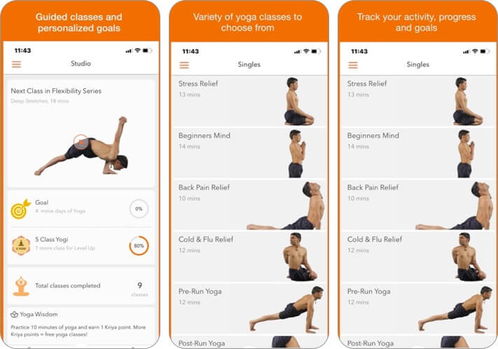 track yoga iphone and ipad stretching app screenshot