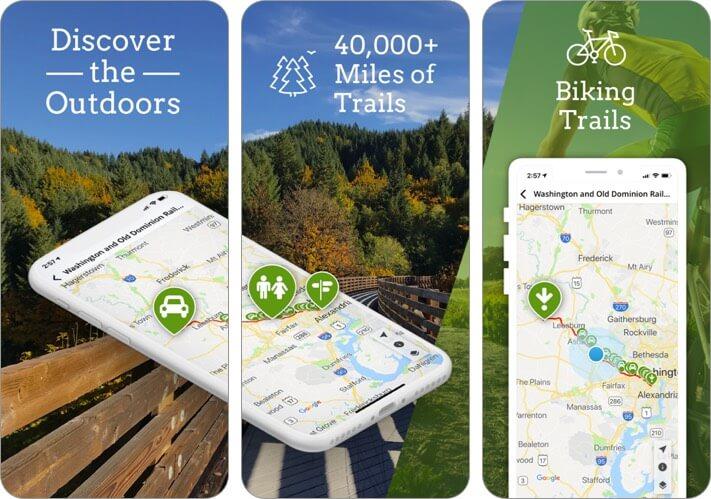 traillink iphone and ipad offline map app screenshot