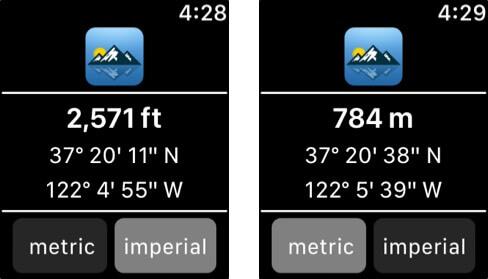 Travel Altimeter & Elevation Apple Watch App Screenshot