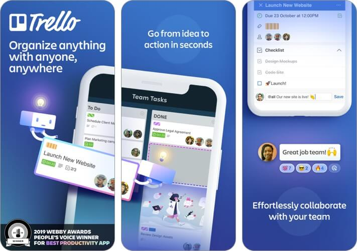 trello: organize anything iphone and ipad team management app screenshot