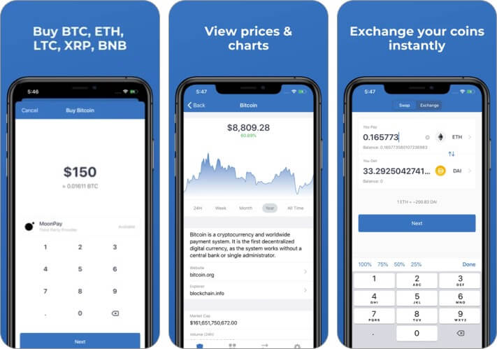 Trust: Crypto and Bitcoin Wallet iPhone and iPad App Screenshot
