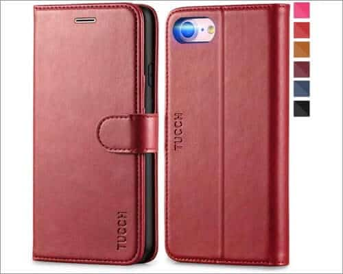 tucch iphone se 2020 leather wallet case