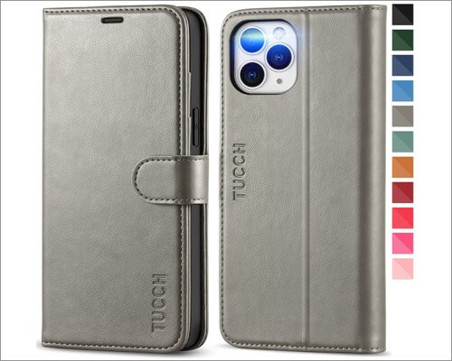 TUCHH Leather Wallet Case for iPhone 12 Pro Max