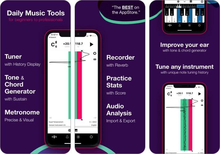 настраиваемое обучение музыке, скриншот приложения для iphone и ipad