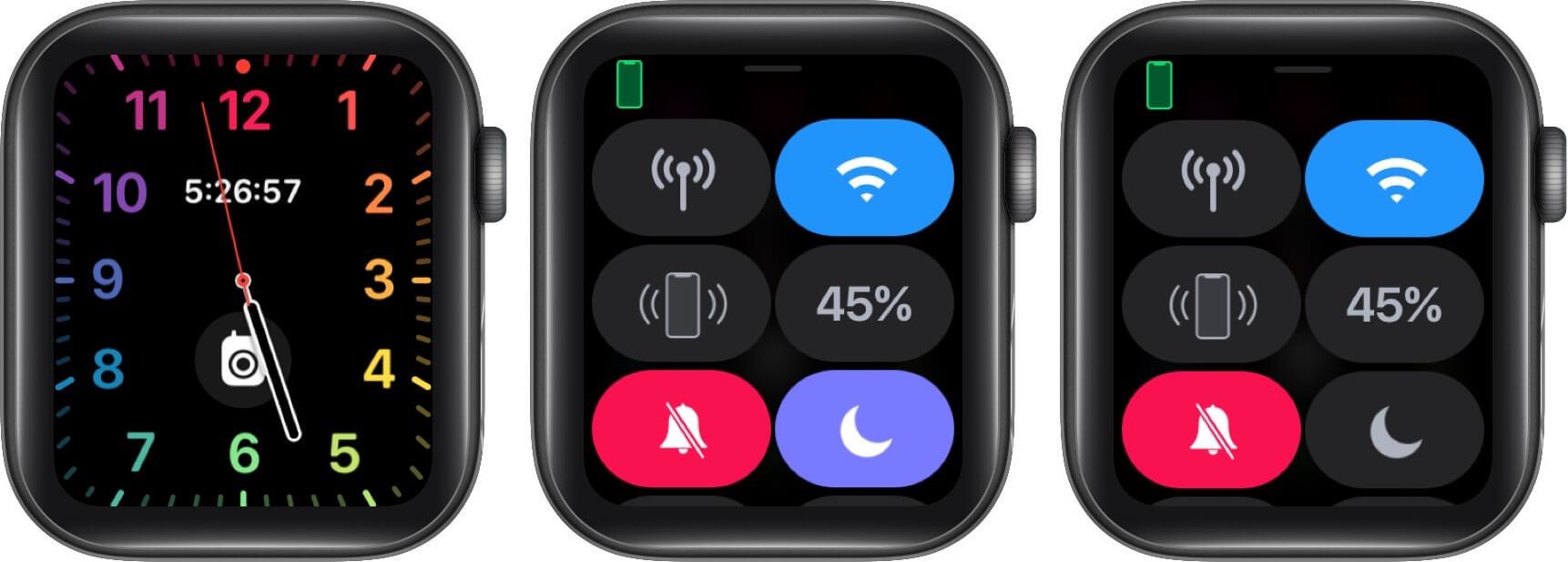 turn off do not disturb on apple watch