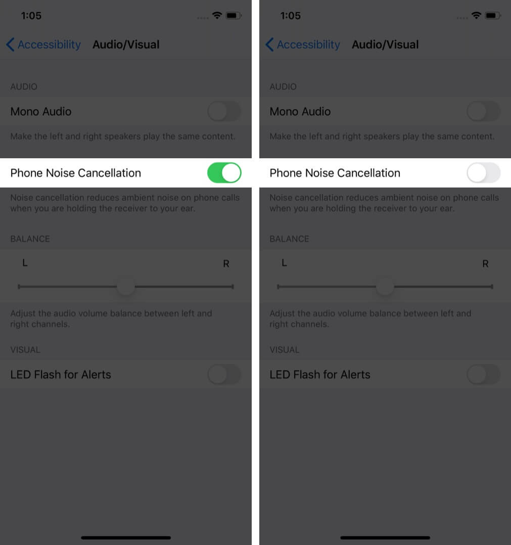 turn off phone noise cancellation to adjust volume level and audio settings on iphone