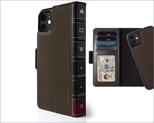 twelve south bookbook leather case for iphone 11