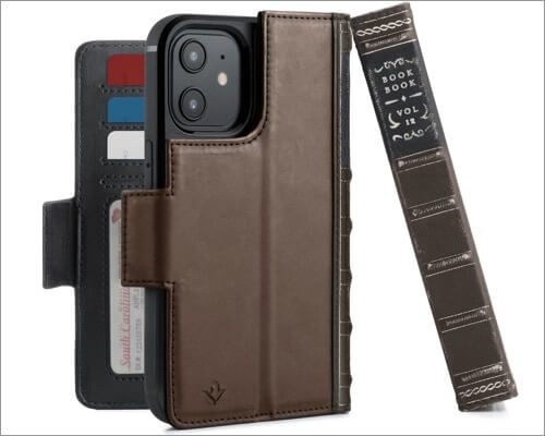 Twelve South BookBook Wallet Case for iPhone 12 and 12 Pro