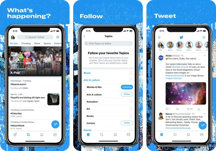 Twitter iPhone and iPad App Screenshot