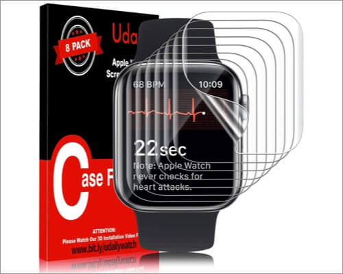 udaily hd clear screen protector for apple watch series 6 and 5