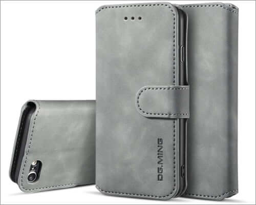 ueebai pu leather flip cover for iphone se 2020