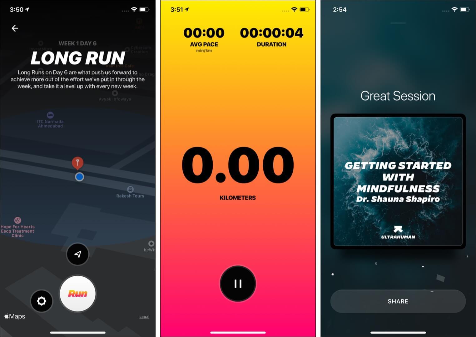 Ultrahuman app's additional highlights