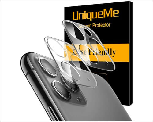 uniqueme camera lens protector for iphone 11, 11 pro and 11 pro max
