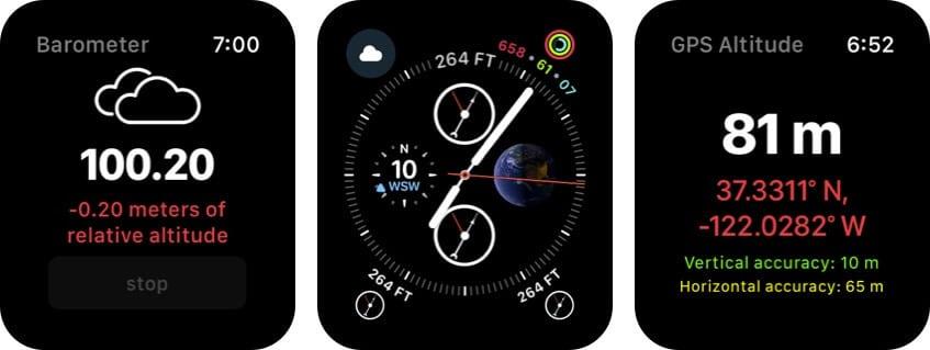 Up High - Barometric Altimeter Apple Watch App Screenshot