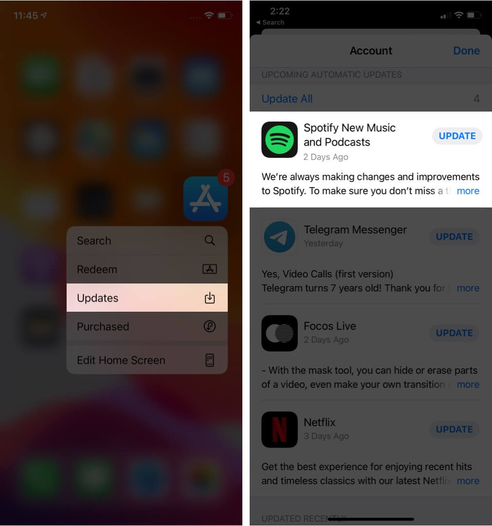 update spotify app on iphone