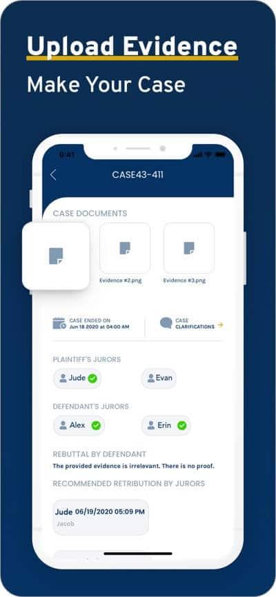 upload case evidence to jury app